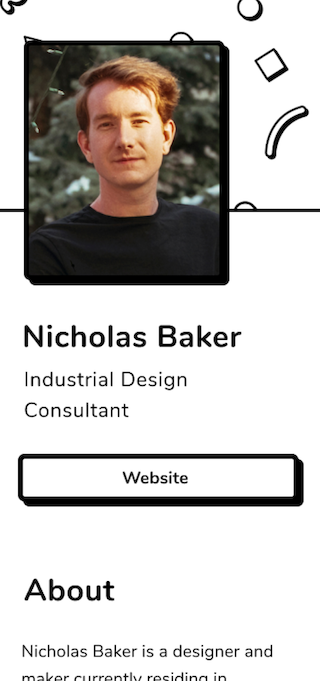 Speaker Page Template